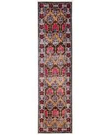 "CLOSEOUT! One of a Kind OOAK3184 Red 2'7"" x 9'7"" Runner Rug"