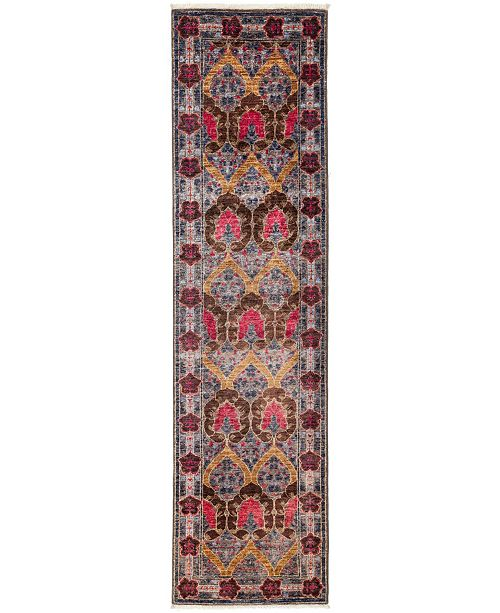 """Timeless Rug Designs CLOSEOUT! One of a Kind OOAK3184 Red 2'7"""" x 9'7"""" Runner Rug"""