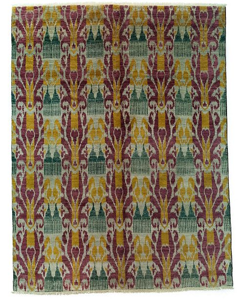 "Timeless Rug Designs CLOSEOUT! One of a Kind OOAK3989 Raspberry 7'10"" x 10'3"" Area Rug"