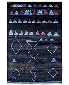 """One of a Kind OOAK4004 Navy 5'10"""" x 8'10"""" Area Rug"""