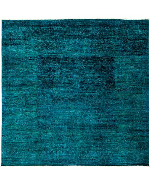 """Timeless Rug Designs One of a Kind OOAK3053 Turquoise 8'2"""" x 8'2"""" Area Rug"""