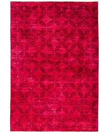 "CLOSEOUT! One of a Kind OOAK3006 Red 6'5"" x 9'7"" Area Rug"