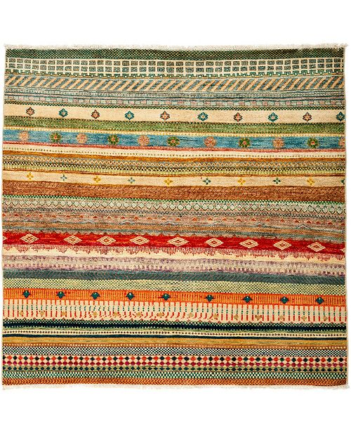 """Timeless Rug Designs CLOSEOUT! One of a Kind OOAK3063 Caramel 4'5"""" x 5' Area Rug"""