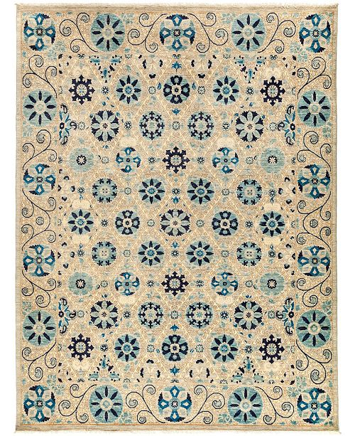 "Timeless Rug Designs CLOSEOUT! One of a Kind OOAK3040 Navy 8'1"" x 10'6"" Area Rug"