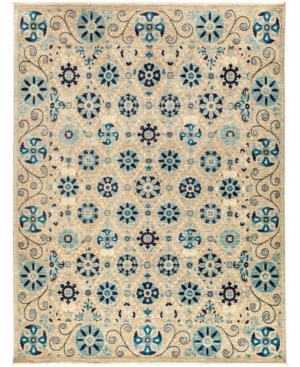 """Closeout! Adorn Hand Woven Rugs One of a Kind OOAK3040 Navy 8'1"""" x 10'6"""" Area Rug Product Image"""
