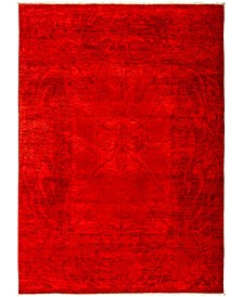 "CLOSEOUT! One of a Kind OOAK2945 Red 6'2"" x 8'7"" Area Rug"