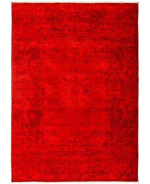"""Timeless Rug Designs CLOSEOUT! One of a Kind OOAK2945 Red 6'2"""" x 8'7"""" Area Rug"""