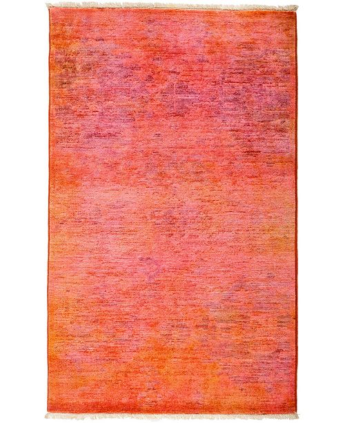 """Timeless Rug Designs CLOSEOUT! One of a Kind OOAK2960 Coral 3'2"""" x 5'2"""" Area Rug"""