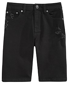 Big Boys Riot Slim-Fit Stretch Destroyed Denim Shorts, Created For Macy's