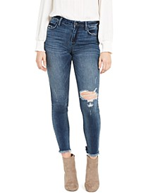 Destructed Cropped Skinny Jeans