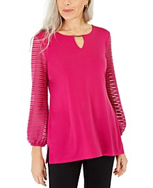 Puff-Sleeve Top, Created for Macy's