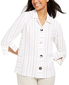 Seamed Crinkle Jacket, Created for Macy's