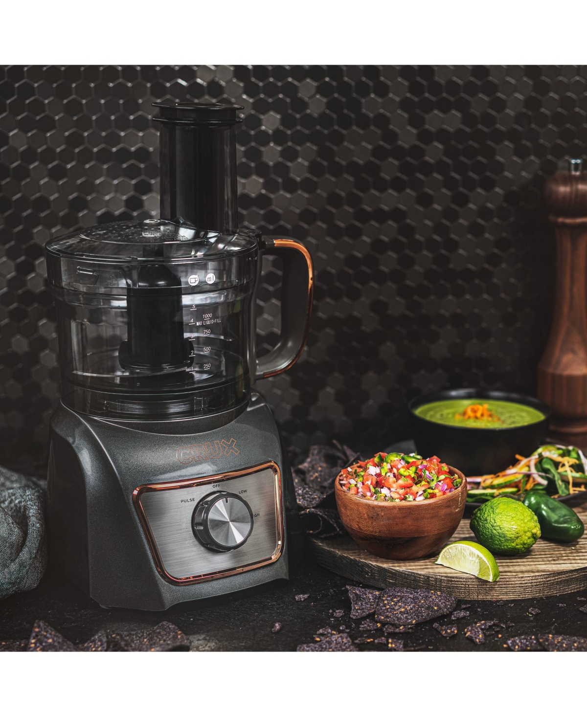 Crux 8-Cup Food Processor 14791, Created for Macy's