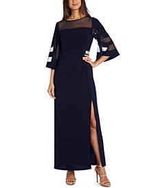 Illusion-Panel Gown