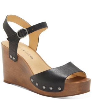 Lucky Brand Wedges WOMEN'S ZASHTI WEDGE SANDALS WOMEN'S SHOES
