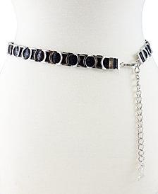 Fashion Focus Modern Metal Python Slider Belt
