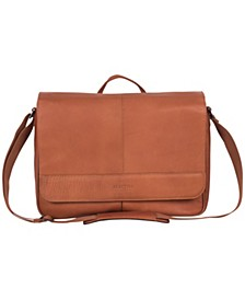 Colombian Leather Single Gusset Messenger Bag