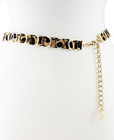Modern Metal Leopard Slider Belt