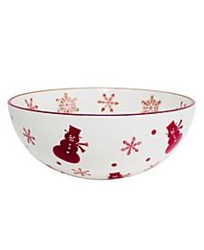 Winterfest Round Serving Bowl