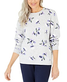 Violet Terrace Printed Fleece Sweatshirt, Created for Macy's