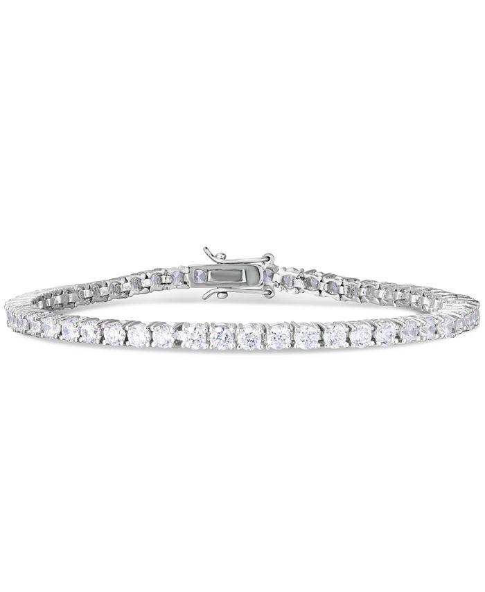 Macy's - Cubic Zirconia Line Tennis Bracelet in Fine Silver Plate