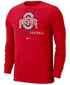 Men's Ohio State Buckeyes Football Wordmark Long Sleeve T-Shirt