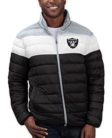 Men's Oakland Raiders Cold Front Quilted Polyfill Jacket