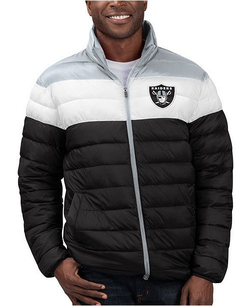 Superb Mens Oakland Raiders Cold Front Quilted Polyfill Jacket Machost Co Dining Chair Design Ideas Machostcouk