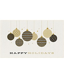 "Holiday Ornaments Accent Rug, 18"" x 30"""