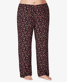 Plus Size Floral Knit Pajama Pant, Online Only