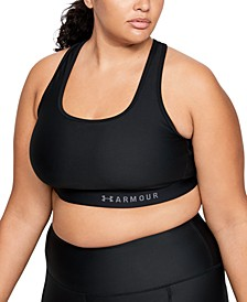 Plus Size Armour® Mid Crossback Sports Bra