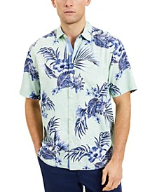 Men's Goa Gardens Classic-Fit Floral-Print Silk Camp Shirt