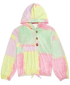 Big Girls Cozy Tie-Dye Hoodie