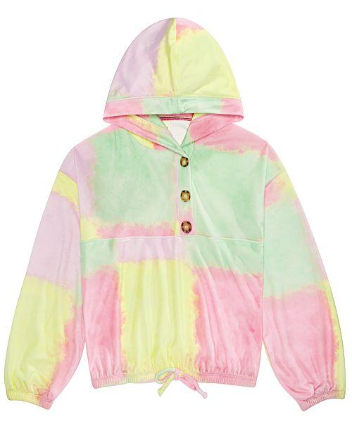 Belle Du Jour Big Girls Cozy Tie-Dye Hoodie