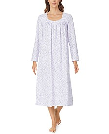 Cotton Printed Venise Lace Nightgown