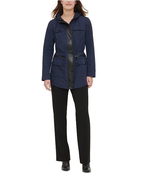 Calvin Klein Cinched-Waist Utility Jacket
