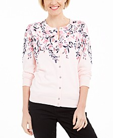 Placed-Print Cardigan, Created for Macy's
