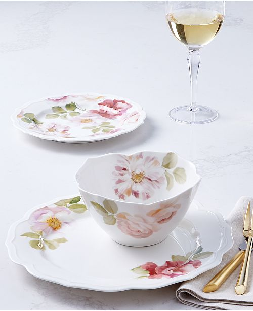 Hotel Collection Classic Wild Rose Dinnerware Collection, Created for Macy's