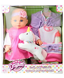 "16"" Lovely Baby Doll with Unicorn"