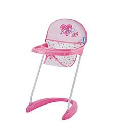 Love Heart Pretend Play Baby Doll High Chair