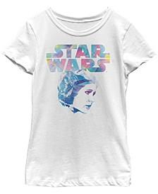 Star Wars Big Girl's Watercolor Princess Leia Short Sleeve T-Shirt