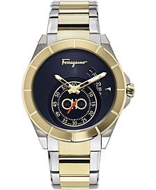 Men's Swiss Ferragamo Urban Two-Tone Stainless Steel Bracelet Watch 43mm