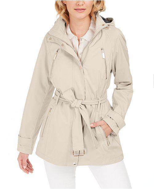 Michael Kors Hooded Water-Resistant Raincoat