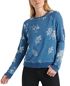 Cotton Floral-Print Sweatshirt