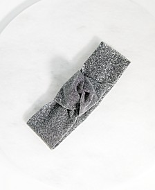 Silver Lurex Stretch Knot Headband