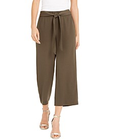 INC Tie-Front Culotte Pants, Created for Macy's
