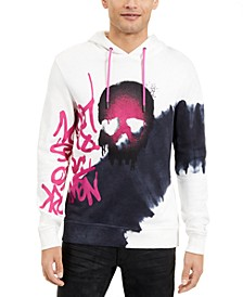 INC Men's Graffiti Skull Hoodie, Created for Macy's