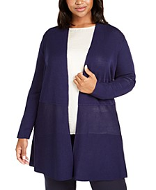 Plus Size Open-Front Cardigan