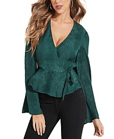 Raeleana Surplus Peplum Top