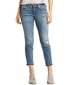 Ripped Cuffed Boyfriend Jeans